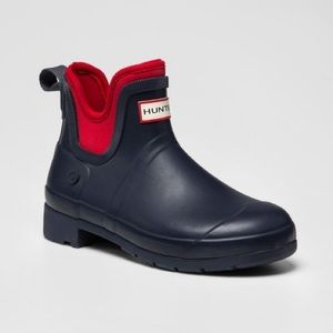 Hunter for Target navy/ red ankle rain boots